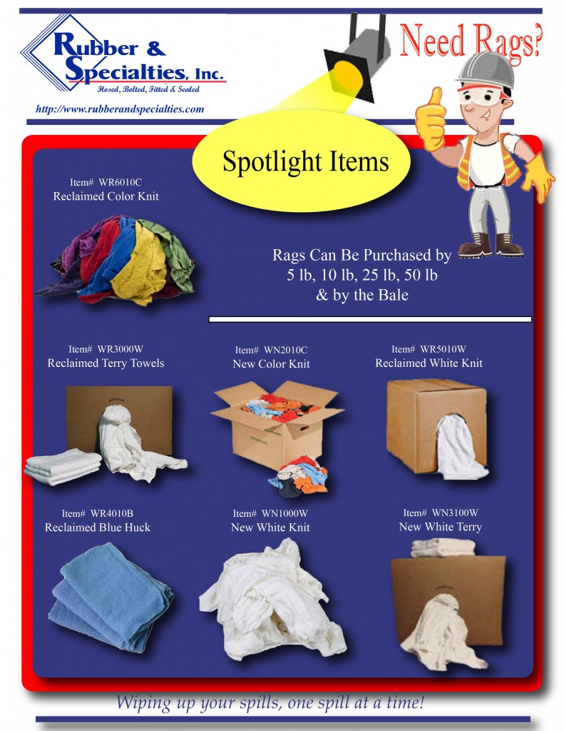 May Specials on Shop Rags